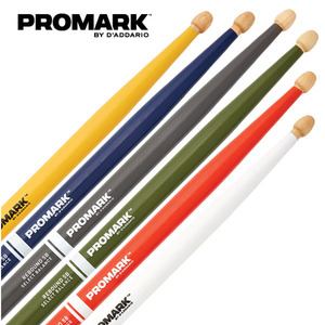 프로마크 컬러 페인트 셀렉트 발란스 아콘팁 리바운드 7A 스틱 / Promark Color Paint stick Select balance Rebound Hickory Acorn Wood Tip / RBH535AW