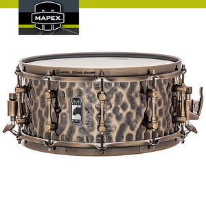 "슬레지해머 (Sledgehammer) 1.2mm Hammered Brass Shell 14""x6.5"" MAPEX BLACK PANTHER BPBR465HZN"
