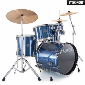 Sonor Smart(스마트) Stage2 5기통 BD22, 10, 12, F14, SD14 Brushed Blue 17200308